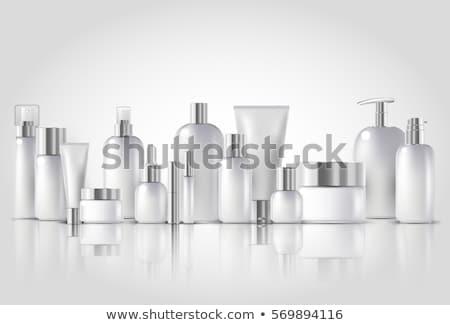 Cosméticos paquete crema blanco plata colores Foto stock © netkov1