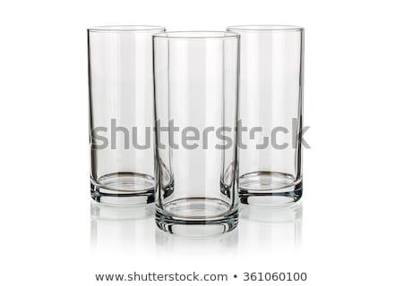 Tres gafas reflexión whisky rocas vidrio Foto stock © alex_l