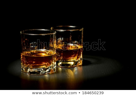 deux · verres · whiskey · roches · verre · fond - photo stock © alex_l