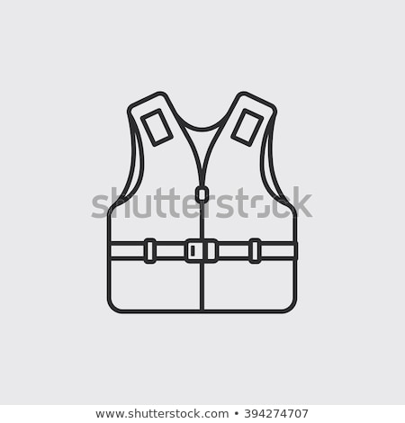 life vest line icon stock photo © rastudio