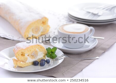 Stockfoto: Room · vruchten · plaat · shell · dessert
