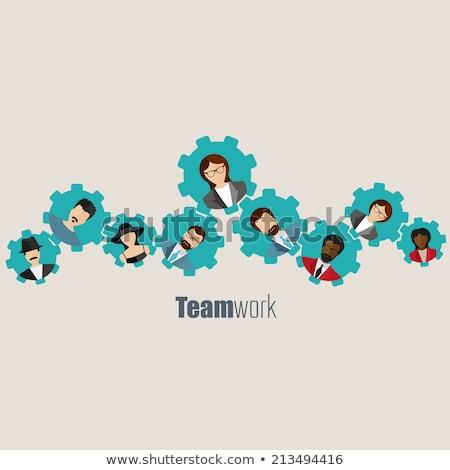 The creative team (symbolic figures of people) Stock photo © grechka333