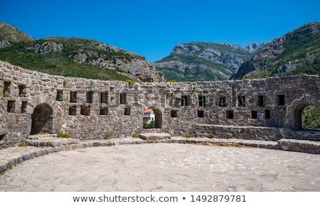 Bar fortezza edifici Montenegro città vecchia medievale Foto d'archivio © Steffus