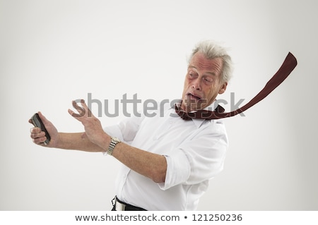 man with tornado in his hand stock photo © sdecoret