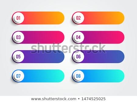 Botones ilustración blanco fondo metal Foto stock © bluering