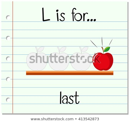 Flashcard letter L is for last Stock photo © bluering