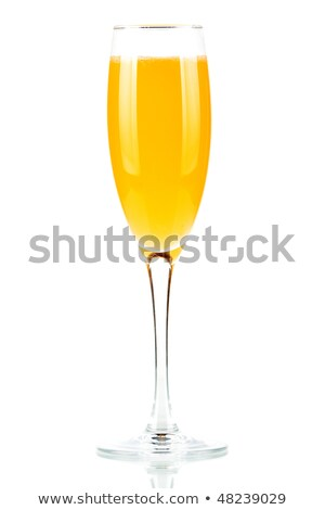 Champagne glass with lemon slice Stock photo © cherezoff