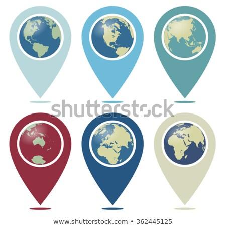 Retro Color World Pointer You are Here Stock photo © fenton