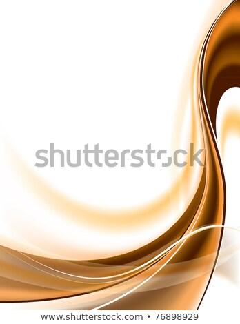 Resumen marrón curva líneas seda diseno Foto stock © saicle