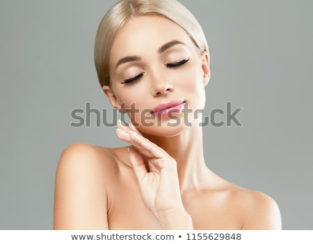 Beauty with long lashes. stock photo © lubavnel