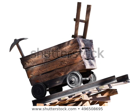 wooden trolley with a pick  Stock photo © OleksandrO