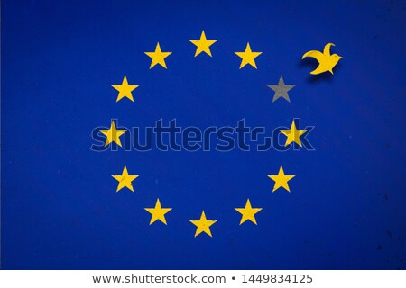 European Union flag with falling stars and grunge texture stock photo © Evgeny89