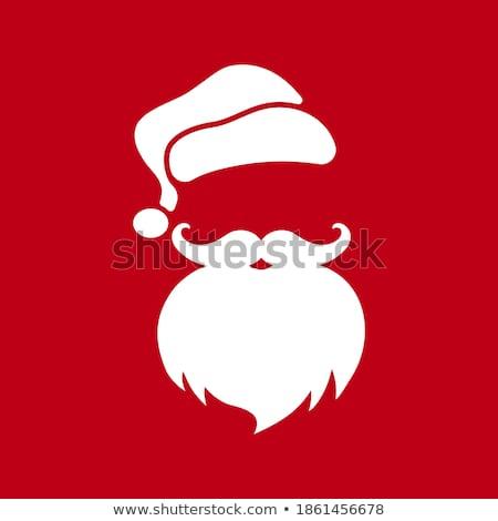 ストックフォト: クリスマス · パーティ · ポスター · あごひげ · eps · 10