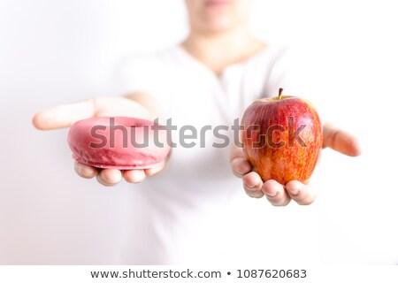 Cukor vs almák teáskanál tele fehér Stock fotó © Leftleg