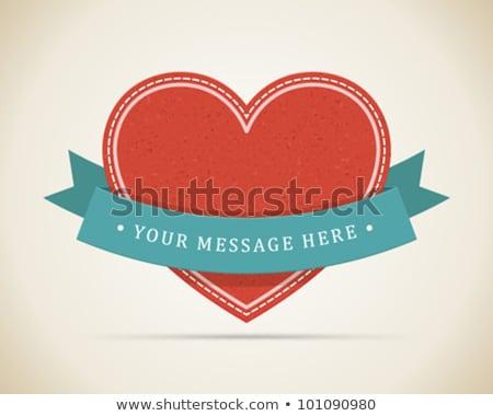 shiny ribbon valentines day eps 10 stock photo © beholdereye