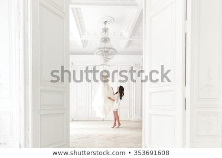 elegáns · tunika · fehér · modern · szürke · izolált - stock fotó © elnur