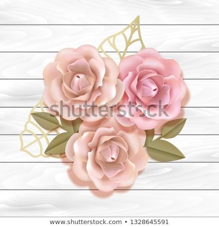 sınır · tahta · vektör · çiçek · el - stok fotoğraf © beholdereye