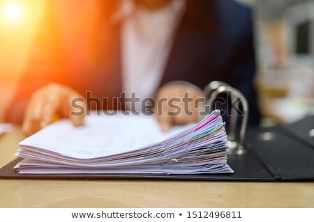 Negocios empresa contador documento papeleo Foto stock © stevanovicigor