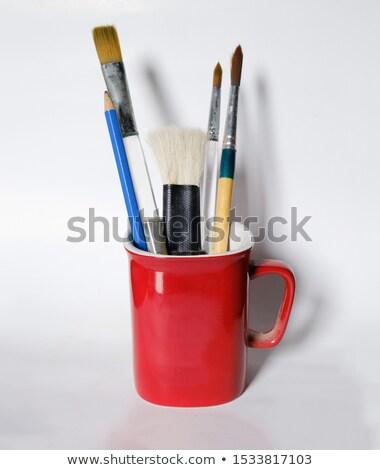 piros · csésze · izolált · fehér · étel · háttér - stock fotó © kayros
