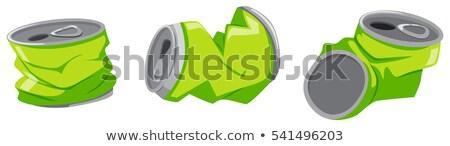 Használt alumínium konzerv padló illusztráció háttér Stock fotó © bluering