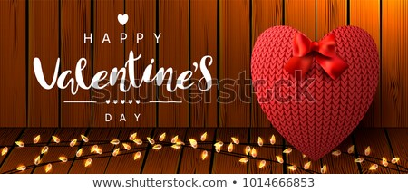 happy valentines day background knitted pattern vector illustration stock photo © carodi