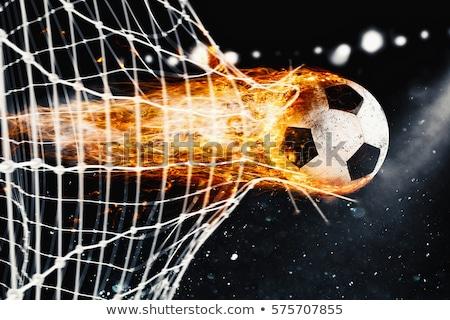 Voetbal vuurbol macht professionele bladeren vlammen Stockfoto © alphaspirit