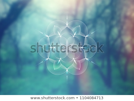 Manevi geometri biçim soyut kart Stok fotoğraf © SArts