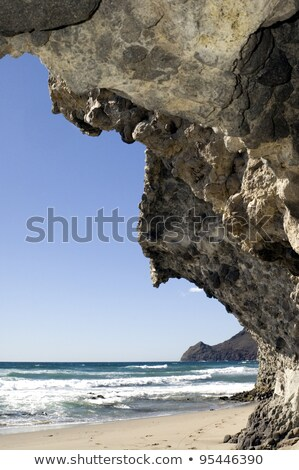 playa de monsul cabo de gata nijar natural park spain stock photo © amok