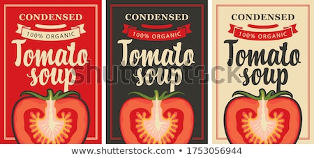 tomato soup in can stock photo © bluering