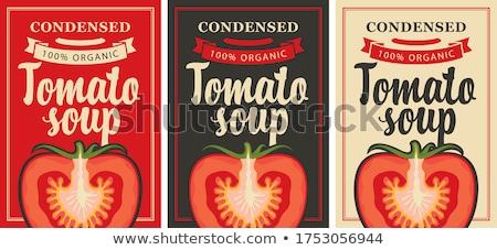 Sopa de tomate lata ilustração fundo arte desenho Foto stock © bluering