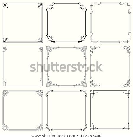 Decorativo frontera negro blanco Foto stock © kjpargeter