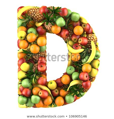 Stock fotó: Illusztráció · d · betű · vitamin · izolált · fehér · 3d · illusztráció