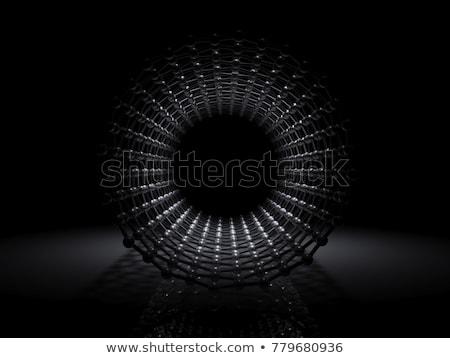 Foto stock: Ilustração · carbono · estrutura · dentro · ver · ilustração · 3d
