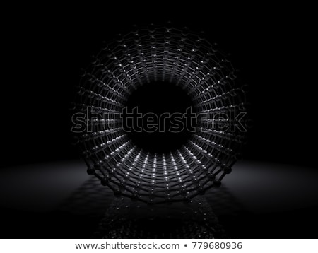 Illustration Kohlenstoff Struktur innerhalb Ansicht 3D-Darstellung Stock foto © tussik