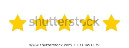 cinco · estrela · classificar · conjunto · ícones · luz - foto stock © sarts