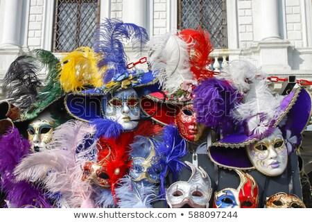 グループ 典型的な ベニスの カーニバル マスク ショップ ストックフォト © smuki