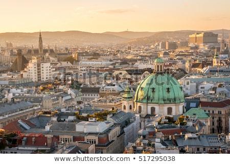 Vienna citiscape at sunset Stock photo © w20er