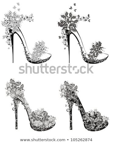 Glamorous High-Heeled Shoes Illustrations Set Stock photo © robuart