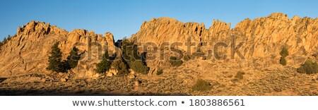 Homokkő kő erdő 14 tájkép hegy Stock fotó © LianeM