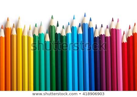 カラフル · 鉛筆 · シート · 紙 · 鉛筆 · オレンジ - ストックフォト © carenas1