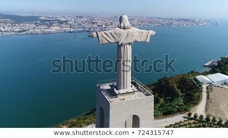 Légifelvétel szobor égbolt Jézus híd kék Stock fotó © hsfelix