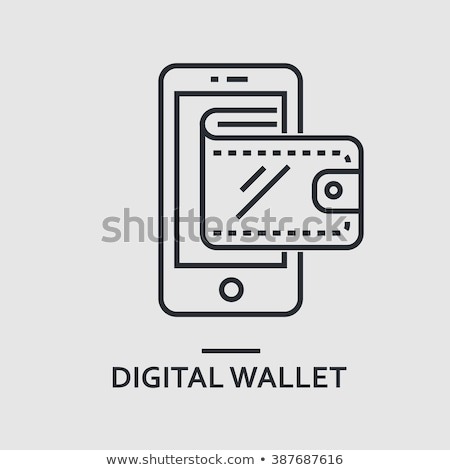 Digitális pénztárca app illusztráció modern mobil Stock fotó © WaD