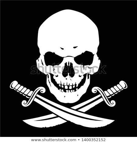 Jolly Roger Skull and Crossbones Stock photo © Krisdog