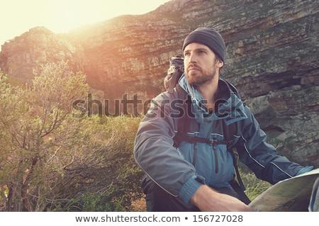 Ritratto barbuto escursionista bianco uomo stile di vita Foto d'archivio © wavebreak_media