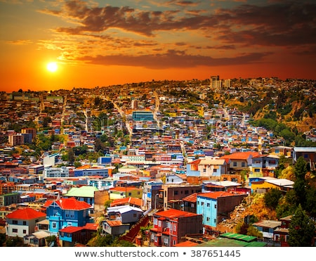 cityscape · colorido · velho · casas · cidade · Chile - foto stock © daboost