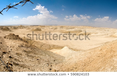 Valle signo hebreo árabe Inglés desierto Foto stock © Zhukow