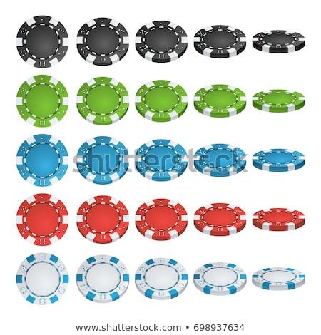 establecer · diferente · 3D · formas · aislado · blanco - foto stock © kup1984