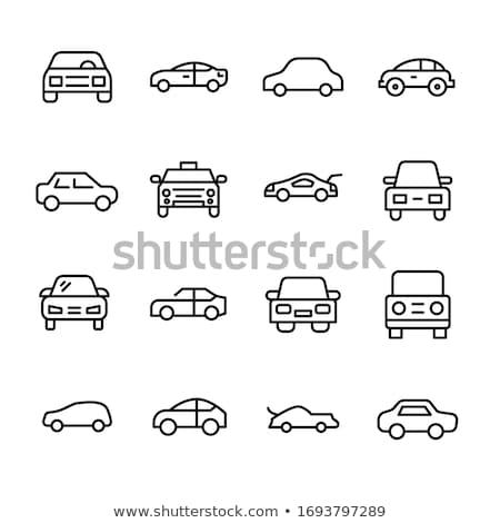 Retro sedan araba izometrik 3D vektör Stok fotoğraf © Genestro
