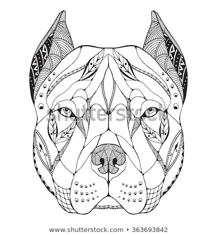 Zentangle stylized dog. Hand Drawn lace vector illustration Stock photo © Natalia_1947