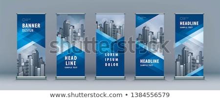 negócio · rolar · para · cima · bandeira · modelo · de · design · imprimir - foto stock © sarts